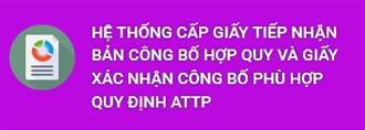 Xác nhận Công bố - Cục ATTP